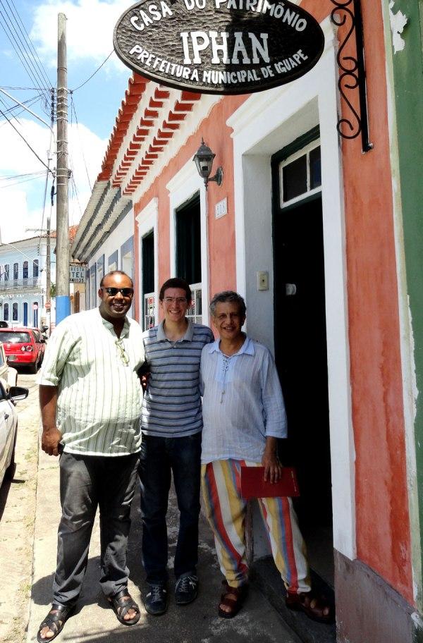 Diego Dionisio, Emerson Capareli e Toninho Macedo, em visita à Casa do Patrimônio