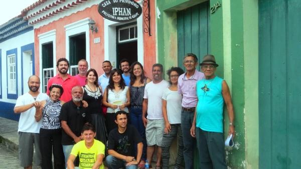 Participantes das cidades de Paranaguá, Guaraqueçaba, Morretes, Iguape e Cananéia no encontro sobre a salvaguarda do fandango. A reunião foi realizada em Iguape/SP, na Casa do Patrimônio Vale do Ribeira.