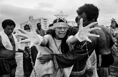 Louvação a Iemanjá na Praia Grande Santos-SP 1978 Crédito: Nair Benedicto/N Imagens